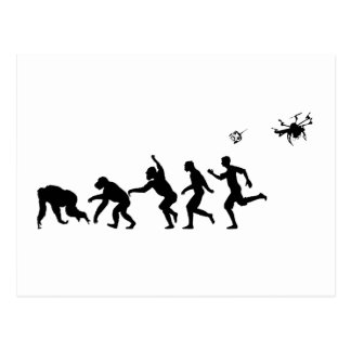 Evolution Droned Postcard