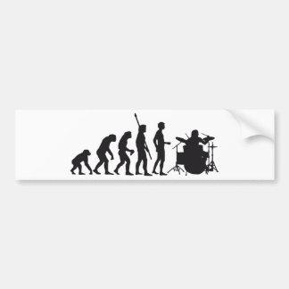 evolution drummer auto aufkleber