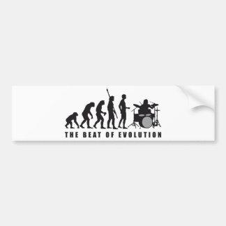 evolution drummer auto sticker