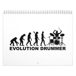 Evolution drummer drums calendar
