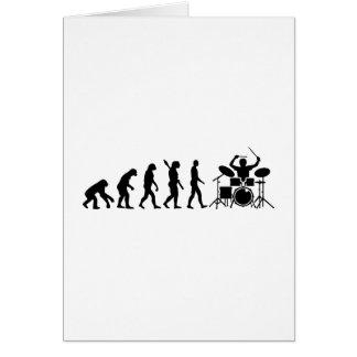 Evolution drummer greeting card