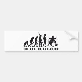 evolution drummer pegatina para auto