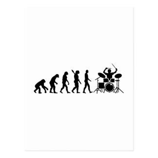 Evolution drummer postcard