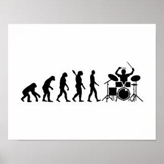 Evolution drummer poster