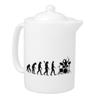 Evolution drummer teapot