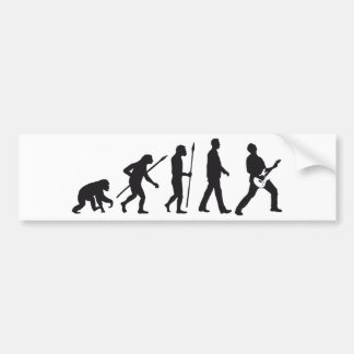 evolution e-guitar rock bumper sticker
