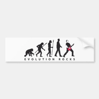 evolution e-guitar rock bumper sticker