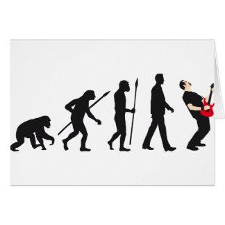 evolution e-guitar rock greeting card