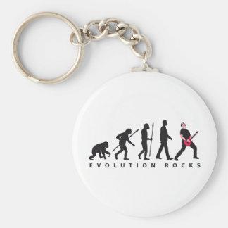 evolution e-guitar rock keychain
