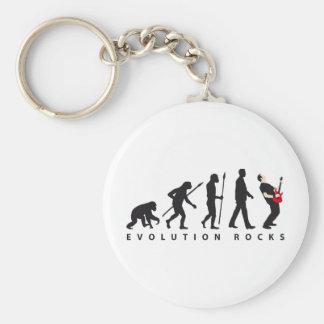 evolution e-guitar rock llavero redondo tipo pin