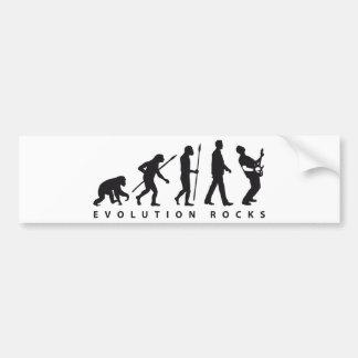 evolution e-guitar rock pegatina para auto