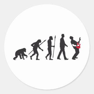 evolution e-guitar rock pegatina redonda