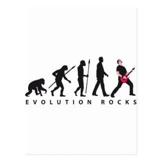 evolution e-guitar rock postcard
