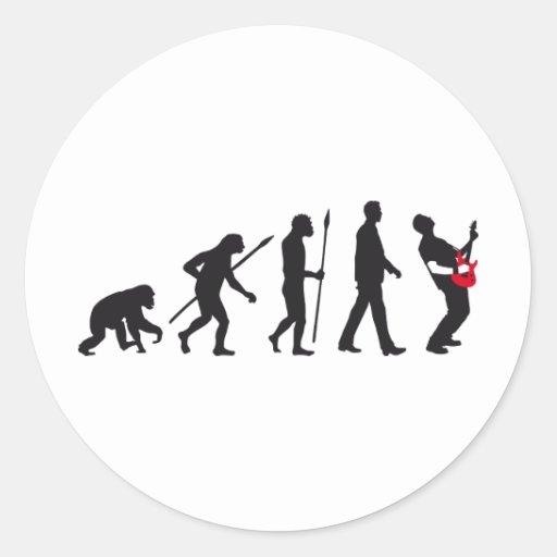 evolution e-guitar rock stickers