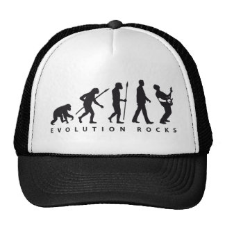 evolution e-guitar rock trucker hat