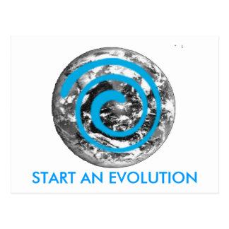 EVOLUTION EARTH POSTCARD