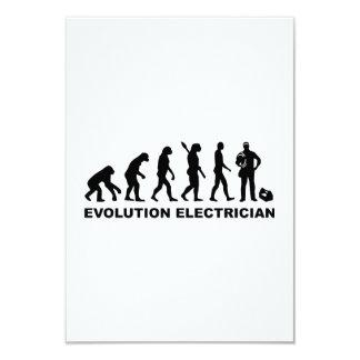 Evolution Electrician 3.5x5 Paper Invitation Card