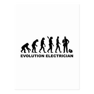 Evolution Electrician Postcard