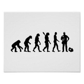 Evolution Electrician Poster