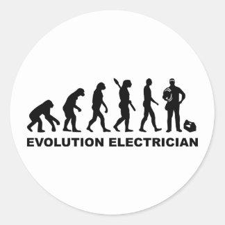 Evolution Electrician Round Sticker