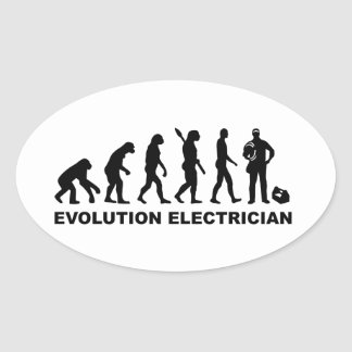 Evolution Electrician Oval Sticker