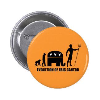 evolution Eric Cantor Pinback Button