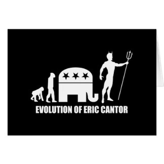 evolution Eric Cantor Greeting Card