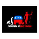 evolution Eric Cantor Postcard