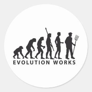 evolution far MER Classic Round Sticker