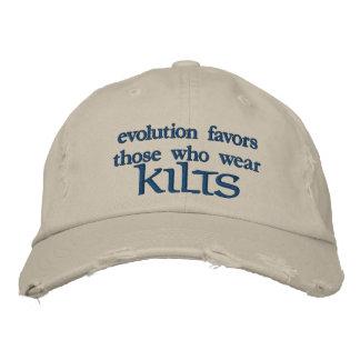 Evolution Favors Those Who Wear KILTS Embroidered Baseball Hat