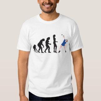 evolution female badminton player camisas