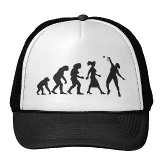 evolution female badminton player gorras