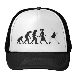 evolution female badminton player gorra