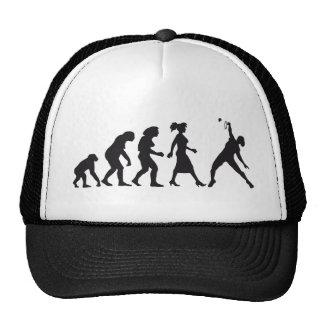 evolution female badminton player gorras de camionero