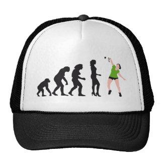 evolution female badminton player gorro