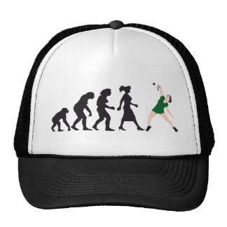 evolution female badminton player gorros