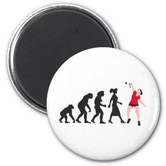 evolution female badminton player imán redondo 5 cm
