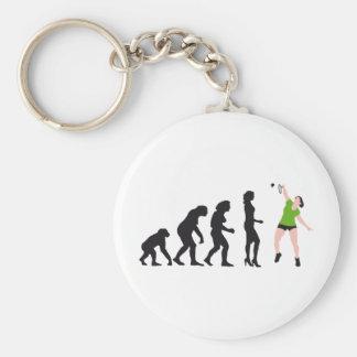 evolution female badminton player llavero redondo tipo pin