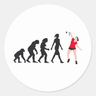 evolution female badminton player