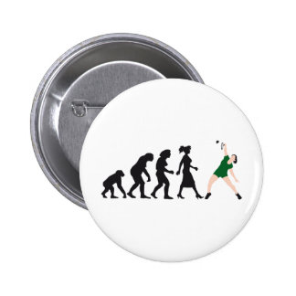 evolution female badminton player pins