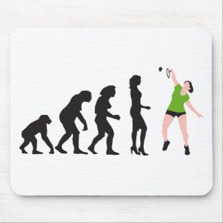 evolution female badminton player alfombrilla de ratones