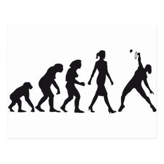evolution female badminton player postal