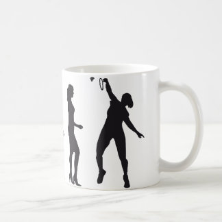 evolution female badminton player taza
