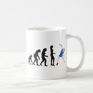 evolution female badminton player tazas