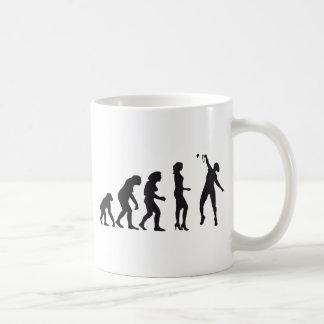 evolution female badminton player tazas de café