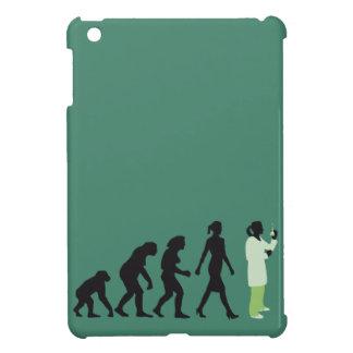 evolution female biologist, chemist, physicist cover for the iPad mini