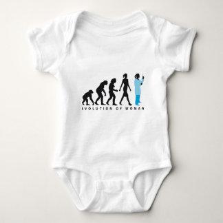 evolution female biologist, chemist, physicist infant creeper