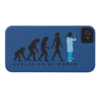 evolution female biologist, chemist, physicist iPhone 4 Case-Mate cases