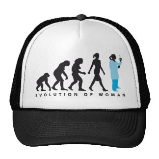 evolution female biologist, chemist, physicist trucker hat