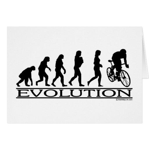 Evolution Female Cyclist Card